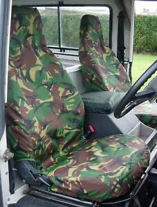 Stupendous Details About Land Rover Defender 90 110 1983 2007 Tailored Pair Green Camouflage Seat Covers Short Links Chair Design For Home Short Linksinfo