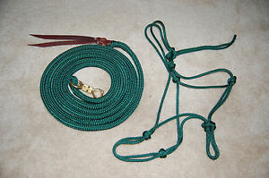 12-039-LEAD-WITH-TWIST-SNAP-amp-SOFT-ROPE-HALTER-FOR-PARELLI-TRAINING-MANY-COLORS