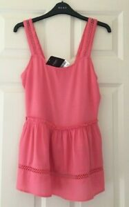 BNWT NEXT SZ 8 BEAUTIFUL PINK  TOP BLOUSE STRETCH RRP £24 NEW