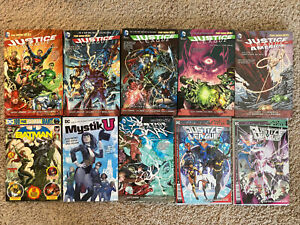Justice League New 52 Graphic Novel Lot HC Batman Green Lantern Vol 1 2 3 4 TPB