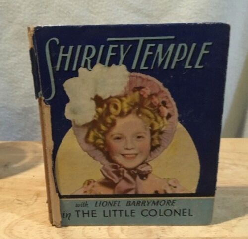 Shirley Temple book,biglittle style,The Little Colonel, Saalfield Co,very good