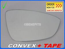 Wing Mirror Glass VW JETTA 2011-2016 CONVEX + TAPE Right Side #1049