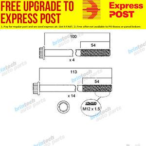 image is loading 1984-1988-for-isuzu-npr59-4bd1-head-bolt-