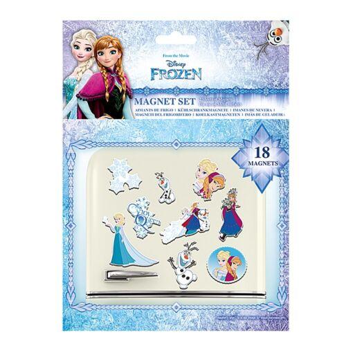 Lot de 18 Authentique Disney Frozen Sœurs Aimants De Réfrigérateur Set-Anna Elsa Olaf