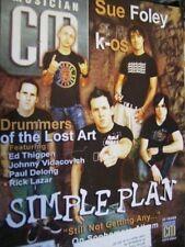 Canadian Musician Magazine Nov/Dec 2004 Simple Plan, Sue Foley, K-OS