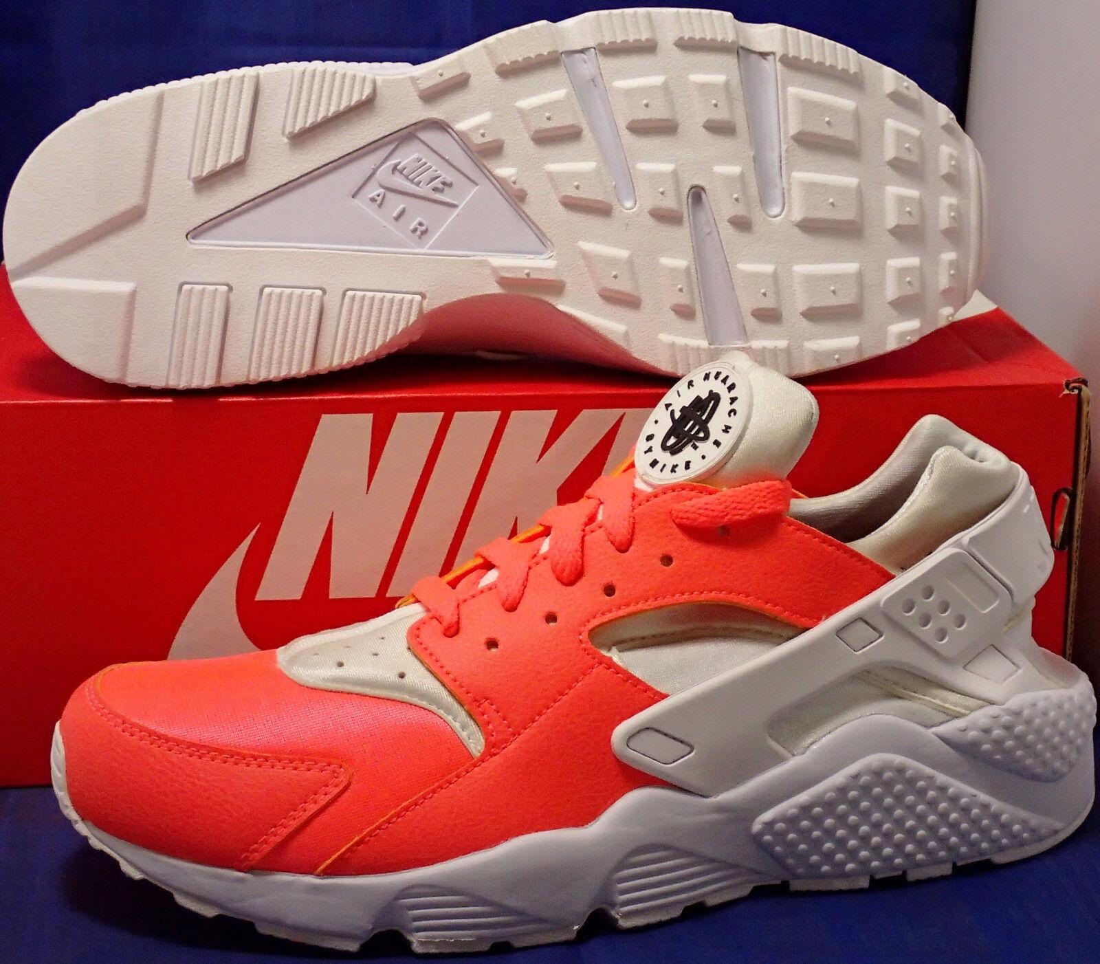 Nike Air Huarache Run iD bianca Hot Lava SZ 10.5 ( 777330-994 )