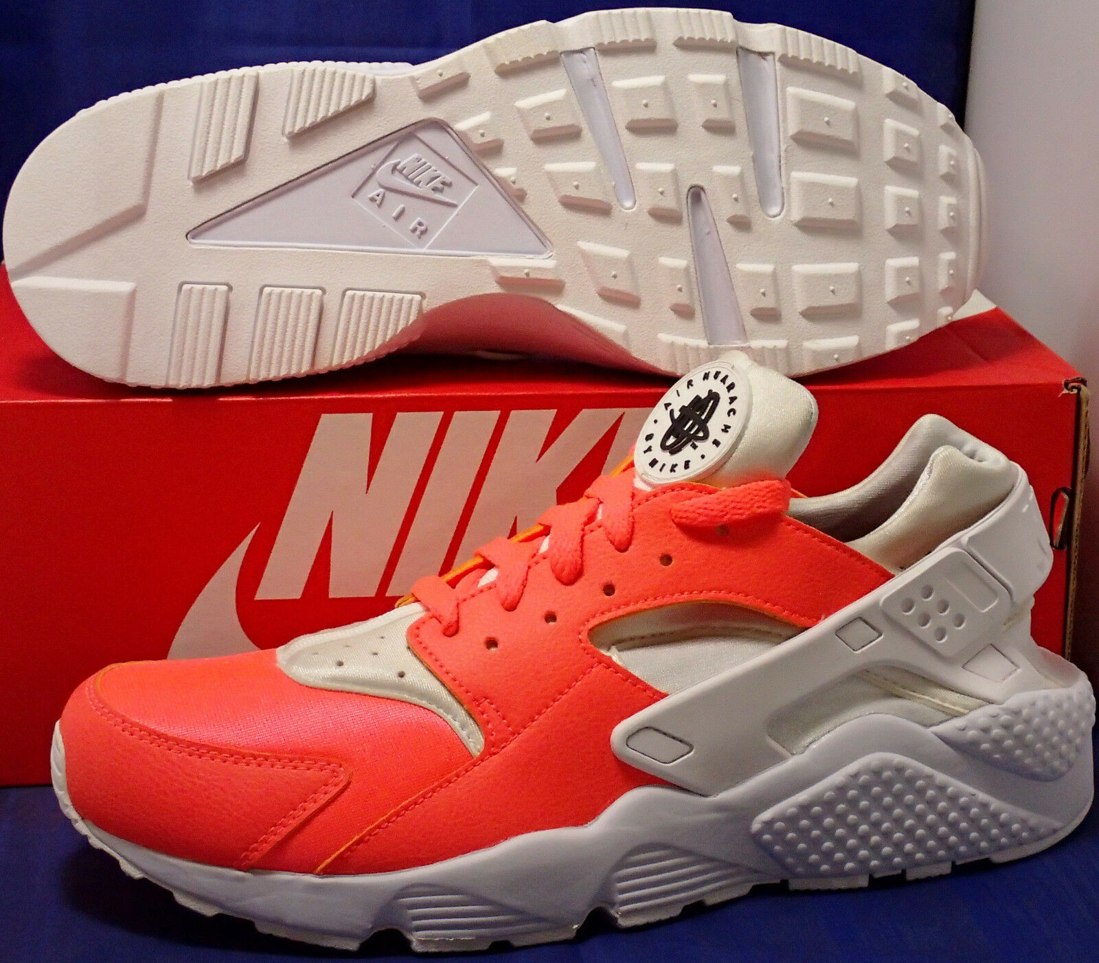 Nike air huarache correre id bianco lava sz (777330-994)