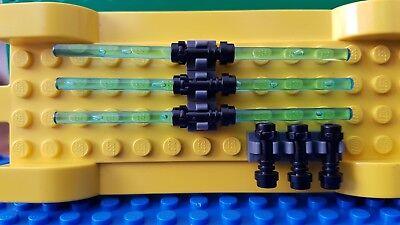 LEGO Lightsaber x6 Trans RED Star Wars Kylo Ren Clone Wars Weapon Blade Vader