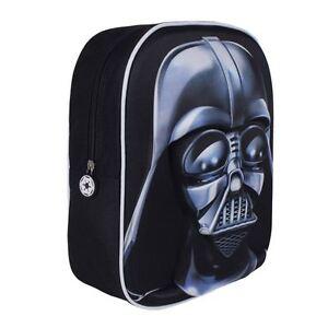 Official Star Wars Darth Vader 3D Image Bag School Carry Kids Travel Backpack