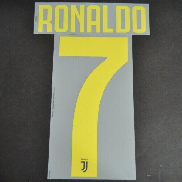 "Bene Juventus F.c. Nome Ufficiale ""ronaldo_7"" Stagione 18/19 Per Maglia Third"