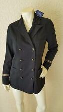Polo Ralph Lauren Women 12 NWT $298 Naval jacket military black cotton linen NEW