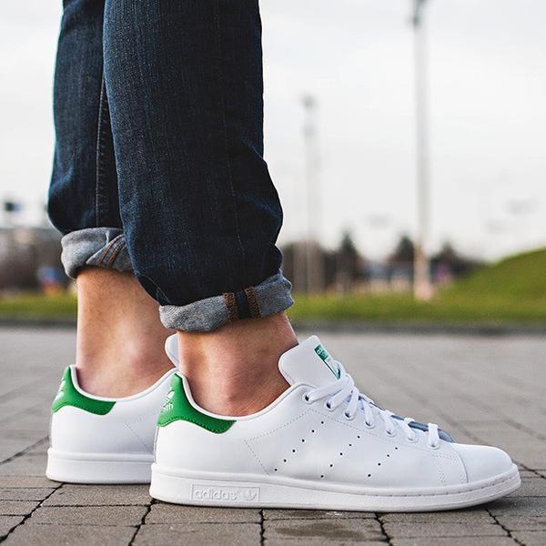 Zapatos casuales salvajes Adidas Stan Smith Zapatillas Scarpe Donna Uomo Shoes Bianco Verde M20324
