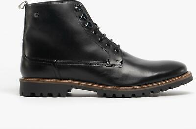 Base London CALLAHAN Mens Genuine Leather Lace Up Ankle Boots Washed Brown