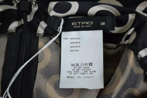 Zwartzilverkleurige Mouwloze Etro Maat blousetop 38 cirkelprint cTK1F3lJ