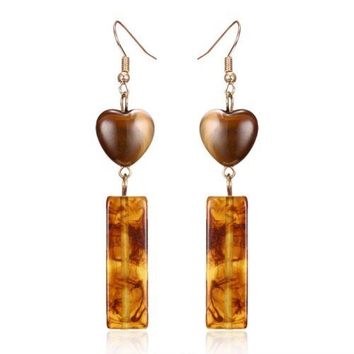Fashion Elegant Round Figure Ear Stud Hook Drop Dangle Earrings Women Jewelry by Unbranded