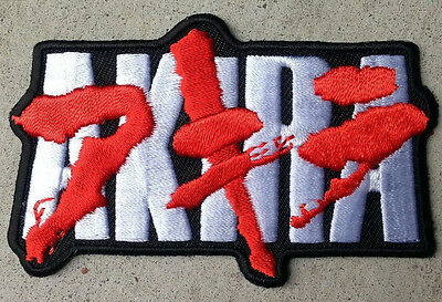 Akira Embroidered Text Japanese Anime Emo punk Scifi Iron on Patch