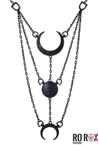 Restyle Crescent Moon phases lunaires Collier Pendentif occulte gothique Wicca esbat
