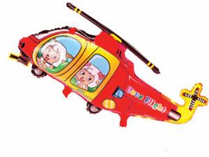 Ballon-Feuille-Helicoptere-Happy-Mouton-Heureuse-Mouton-Ballon-D-039-Helium-Rouge
