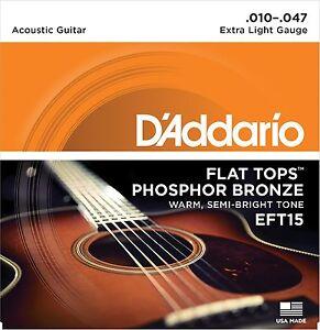 Brillant D'addario Cordes Guitare Acoustique Plat Tops Eft15 Extra Light-afficher Le Titre D'origine Prix RéDuctions