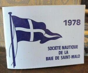 Société Nautique De La Baie De Saint-Malo 1978. marine bretagne yachting