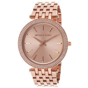 New michael kors darci rose gold tone stainless steel mk3192 women image is loading new michael kors darci rose gold tone stainless gumiabroncs Gallery