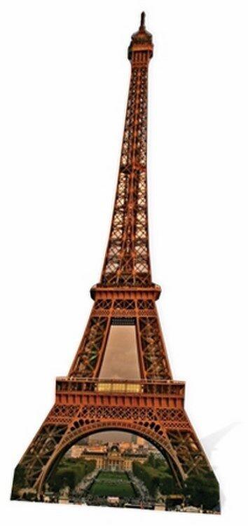 EIFFEL TOWER - HUGE CARDBOARD CUTOUT     STANDEE 1ca918