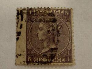 1867-Queen-Victoria-6-penny-vintage-stamp-sg-96-plate-6-deep-lilac-cv-180-00