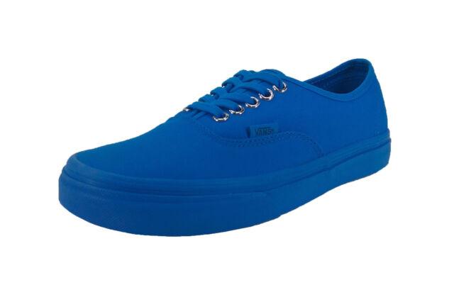 202d6277bb Vans Unisex Men Women Shoes Authentic Primary Mono Canvas Imperial Blue
