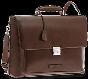 Cartella Ventiquattrore Briefcase THE BRIDGE borsa porta Pc 24ore PELLE traco...