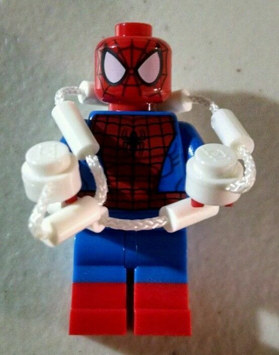 Spider-Man LEGO Minifigure w web - Genuine Spiderman Lego Minifig from Set 76037