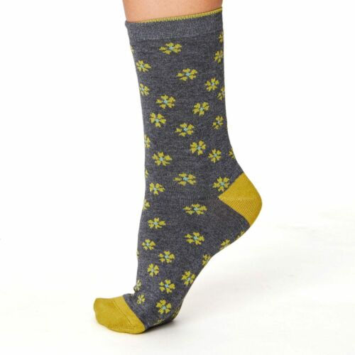 "/""Ditsy Floral/' 4 Colours : Multipack Offer Super-Soft Thought Bamboo Socks"