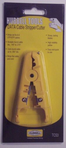 HUBBELL TCS3 DATA CABLE STRIPPER//CUTTER TOOL
