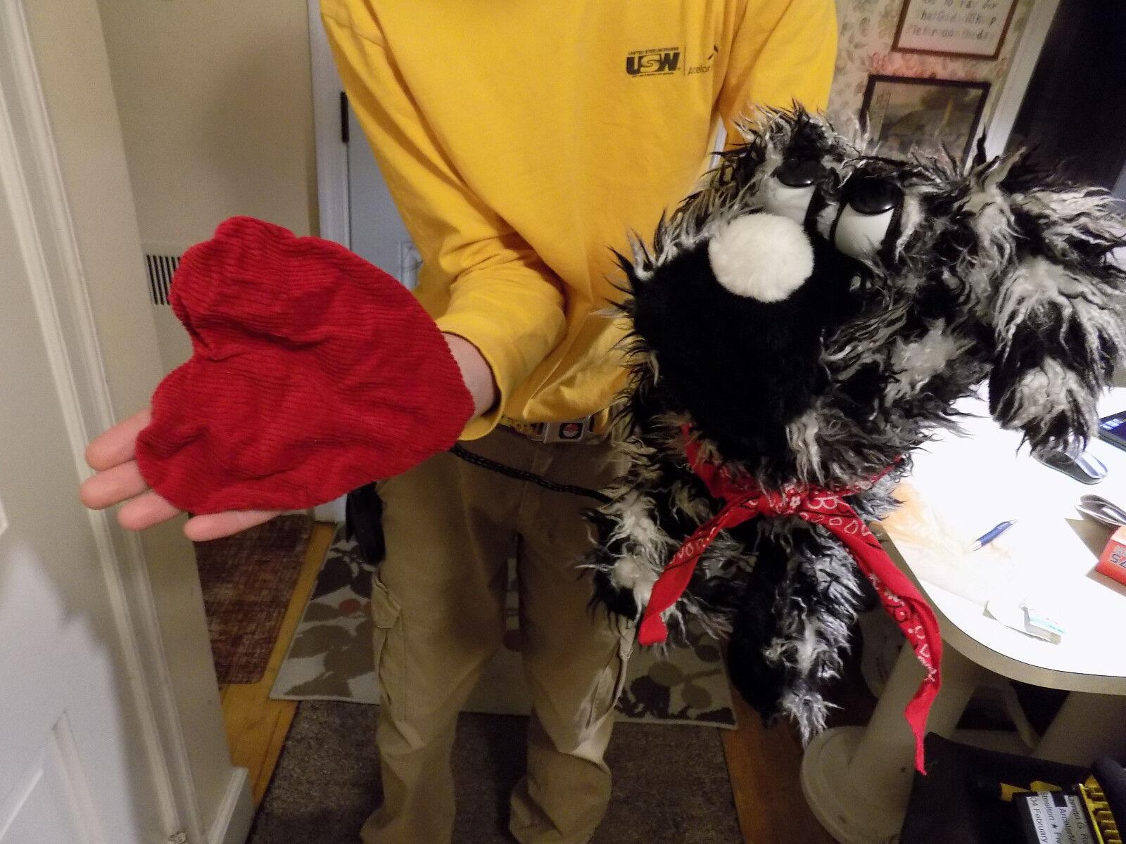 17  BIG Amaze Healing Wings Scruffy Dog Puppy Plush Full Body Hand Puppet Heart