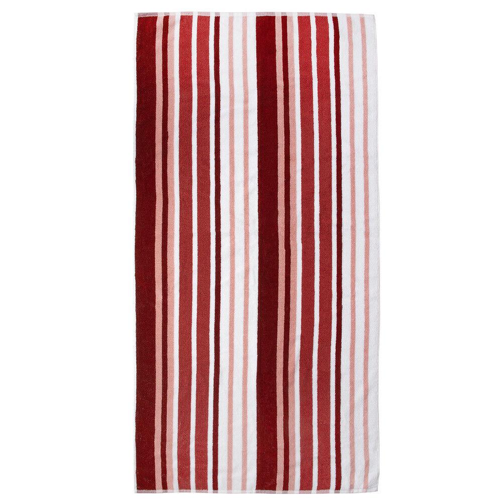 Jacquard Striped Woven Terry Towel, for Beach, Bath, Pool. Cotton,Brown, 27x55