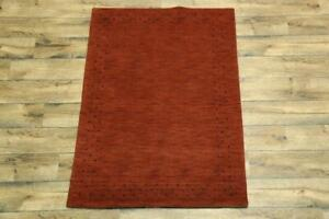 "Contemporary Modern 4x6 Gabbeh Oriental Area Rug Wool Carpet 5' 10'' x 4' 1"""