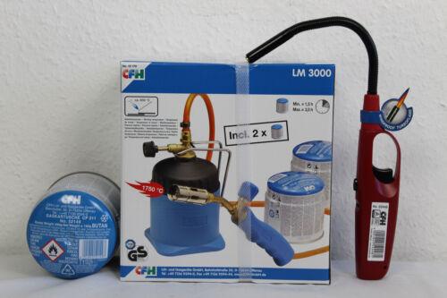 CFH Set lötbrenner LM 3000 Brasage brûleur à gaz incl .3 xgas 52448 gasanzünder