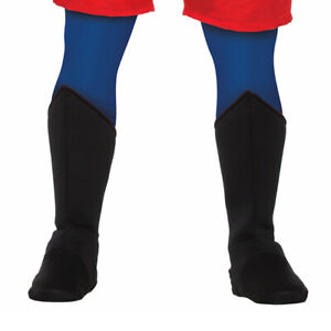 Adult Superhero Shoe Covers Boot Tops Black Unisex Costume Accessory LRG