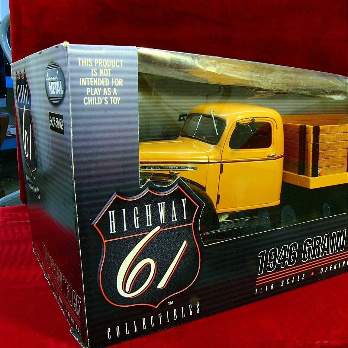 SUPERBE & New Highway 61 - 1946 GMC Farm Grain camion grande échelle 1 16