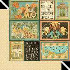 Graphic45 CREATIVE IDEAL 12x12 Dbl-Sided Scrapbooking (2PCS) Paper ART DECO