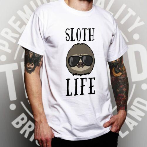Novelty Animal T Shirt Sloth Life Pun Slogan Joke Lazy Sleepy Cute