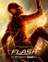 The Flash Cw Tv Poster (24x36) - Grant Gustin, Candice Patton