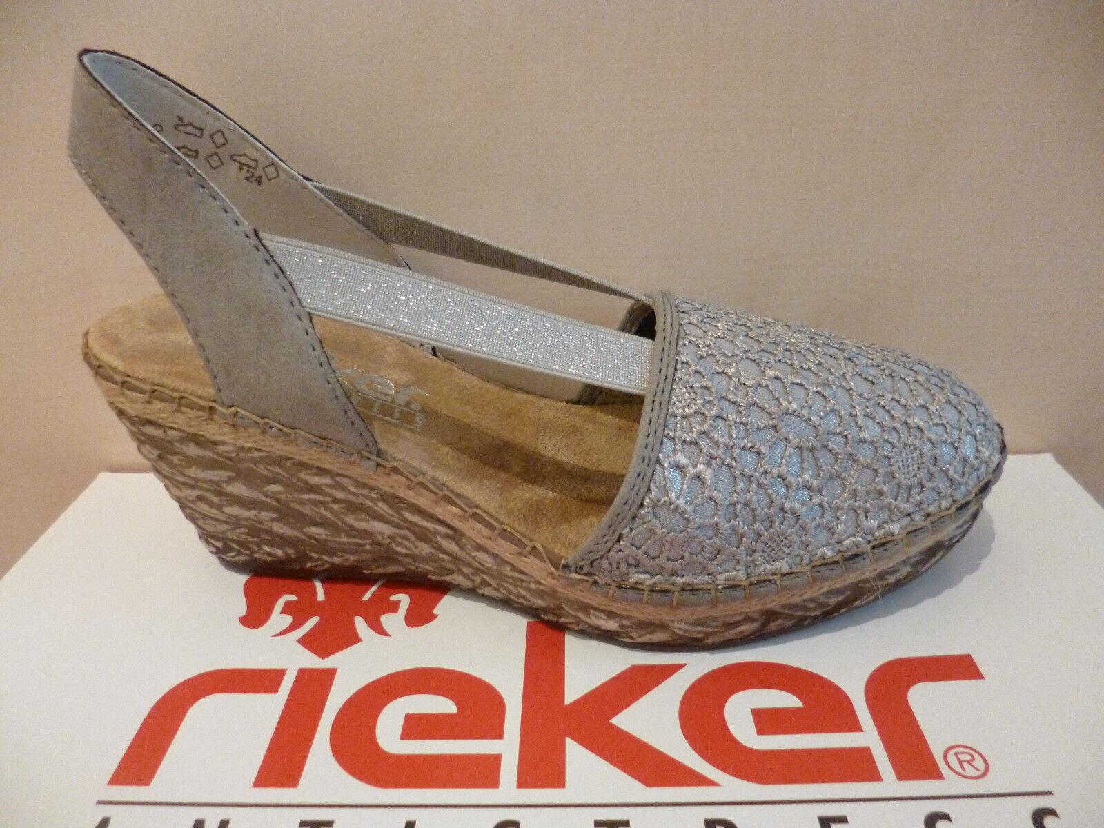 Messieurs / Dames RIEKER femmes sandales SLING GRIS NEUF Exécution haute exquise haute Exécution qualité Marchandises différentes 045a0c