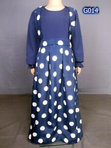 FidèLe Modeste Dress/abaya/jilbab/- Ages 7-8 & 9-10 Ans-afficher Le Titre D'origine