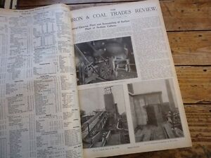 Efficace The Iron & Coal Trade Review 1926 Siderurgie Mines Mineurs Usine Industrie Activation De La Circulation Sanguine Et Renforcement Des Nerfs Et Des Os