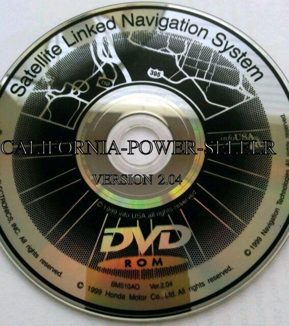 ACURA HONDA NAVIGATION DVD CD 2.04 DISK MAP GPS 2002 HONDA