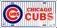 Chicago Cubs Car Truck Tag License Plate Pinstriped Chicago Cubs Metal Sign