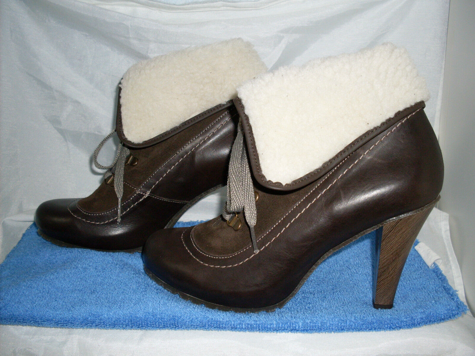 Ankleboot Designer botín marrón nuevo talla 41 en marrón botín & cuero necesariamente prestigio 025148