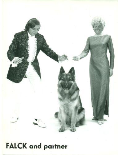 CIRQUE PHOTO ORIGINALE du chien savant FALCK et de ses partenaires