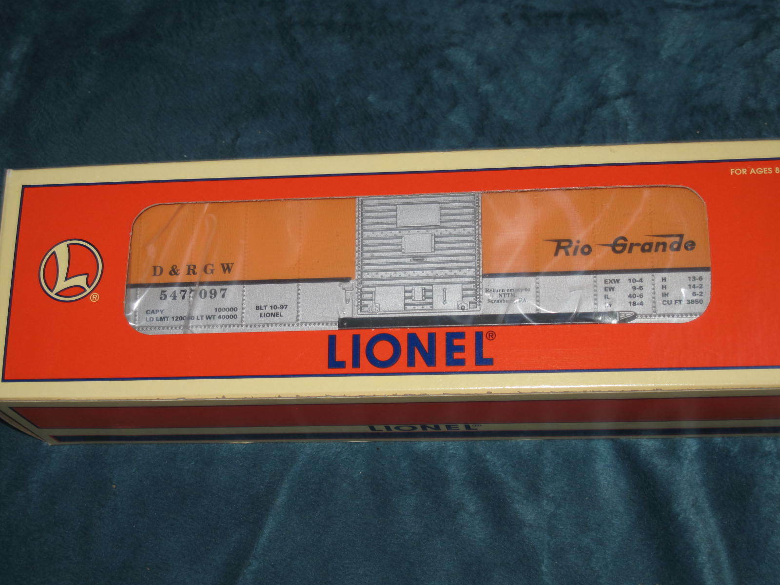 1997 Lionel 6-52118 TCA Museum Denver & Rio Grande Box Car NIB L1927
