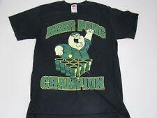 e53fdfefe34a Family Guy Character Beer Pong Champion T-Shirt Medium Black Short Sleeve  A10